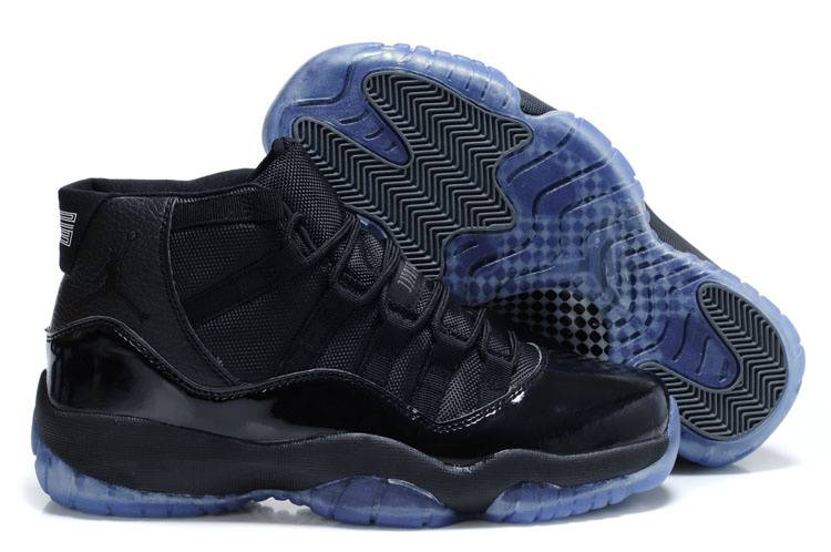 jordan 11 black and blue