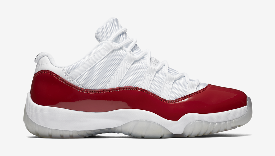 jordan 11 red and white