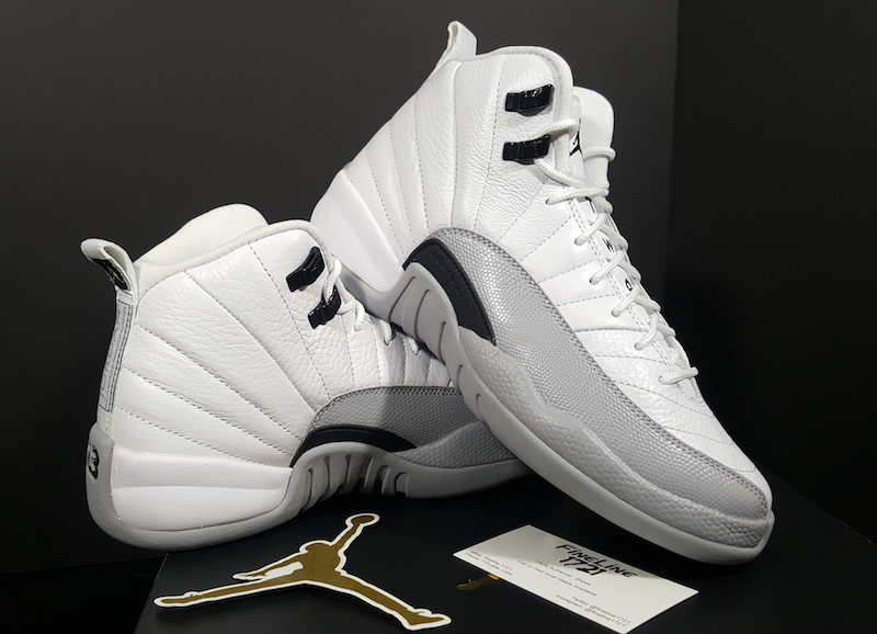 jordan 12 grey and white