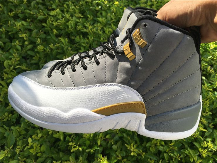 jordan 12 white and gold