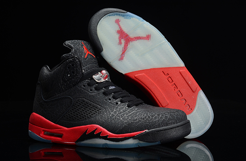 jordan 5 black and red