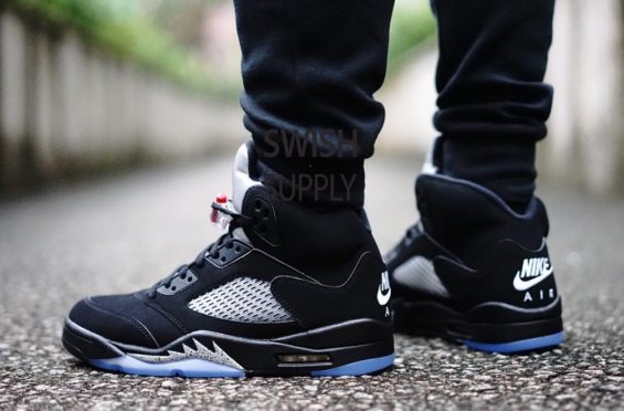 jordan 5 black metallic
