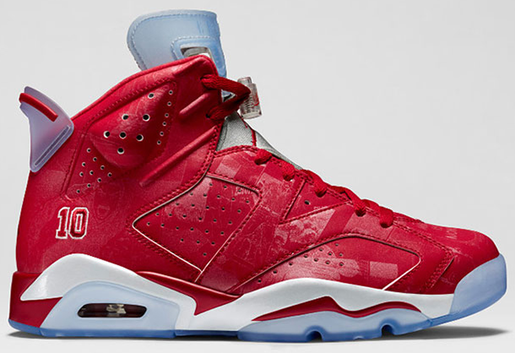 jordan 6 red and white